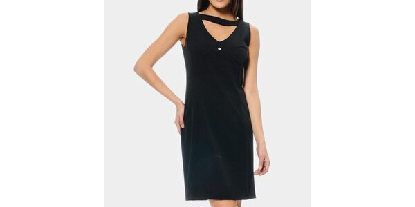 Dámske čierne púzdrové šaty ODM Fashion