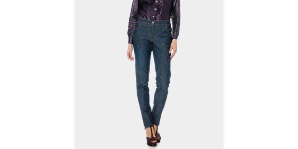 Dámske modré džínsy ODM Fashion