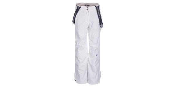 Dámske biele lyžiarske nohavice Loap s trakmi