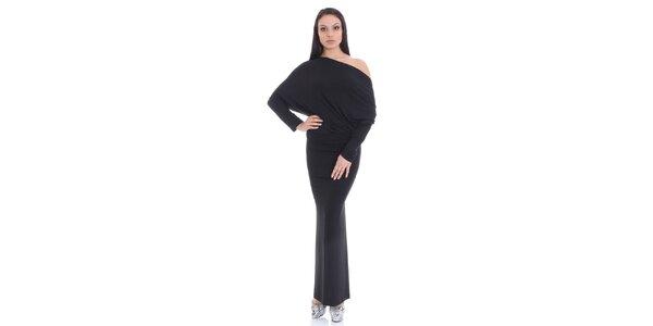 Dámske čierne dlhé šaty SforStyle