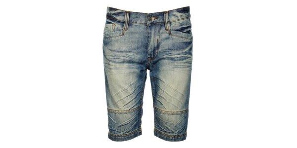 Pánske modré džínsové bermudy Timeout