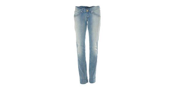Svetlo modré úzke džínsy Miss Sixty s ľahkým ošúpaním