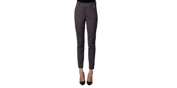 Dámske šedé nohavice z panenskej vlny Gene