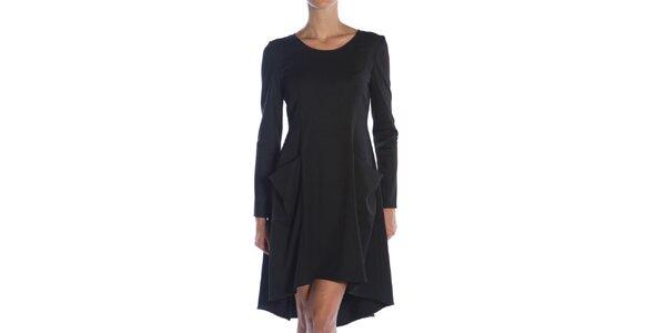 Dámske čierne šaty s vreckami Gene