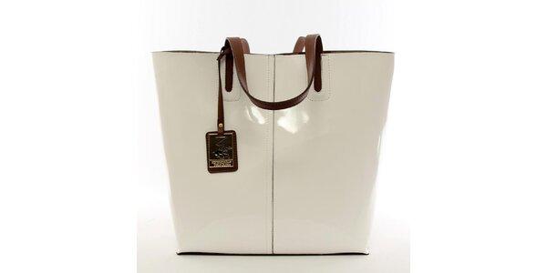 Dámska krémovo biela kabelka s vyberateľným vreckom Beverly Hills Polo Club