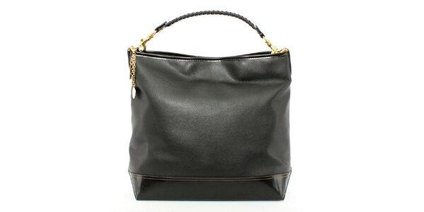 Dámska čierna kabelka s jedným uchom Beverly Hills Polo Club