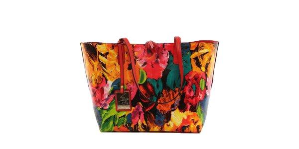 Dámska pestrofarebná kabelka s vyberateľným vreckom Beverly Hills Polo Club