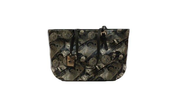 Dámska kabelka s potlačou bankoviek Beverly Hills Polo Club