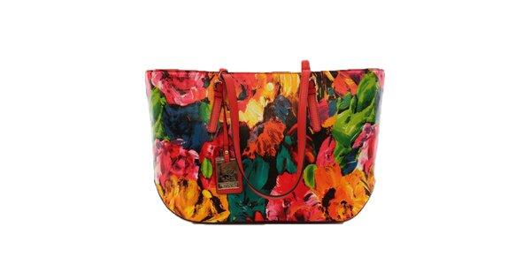 Dámska farebná kvetinová kabelka Beverly Hills Polo Club