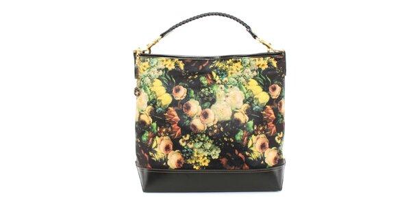 Dámska kabelka so žltou kvetinovou potlačou Beverly Hills Polo Club