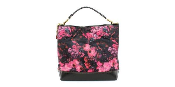 Dámska kabelka s ružovou kvetinovou potlačou Beverly Hills Polo Club