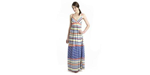 Dámske šaty Uttam Boutique s dúhovými prúžkami