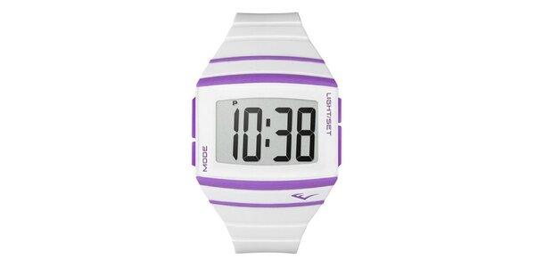 Dámske biele digitálne hodinky Everlast