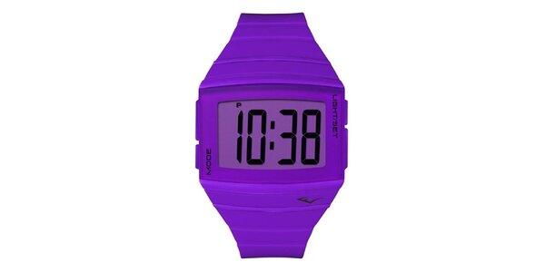 Dámske fialové digitálne hodinky Everlast