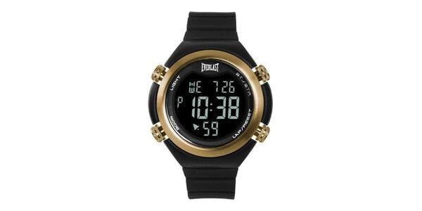Dámske čierno-zlaté digitálne hodinky Everlast