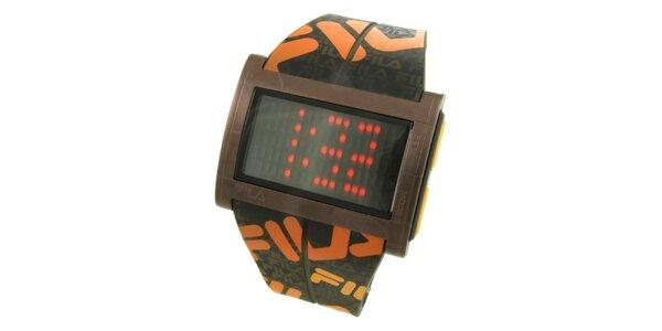 Dámske designové hodinky Fila s oranžovým logom