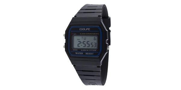 Plastové čierne digitálne hodinky COOLIFE