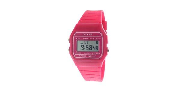 Dámske ružové digitálne hodinky COOLIFE