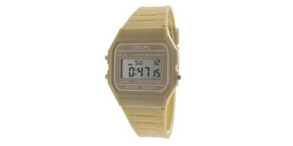 Dámske banánovo žlté digitálne hodinky COOLIFE