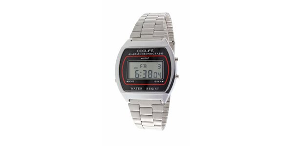 Oceľové športové digitálne hodinky COOLIFE