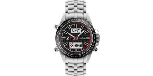 Pánske oceľové hodinky s chronografom Jacques Lemans