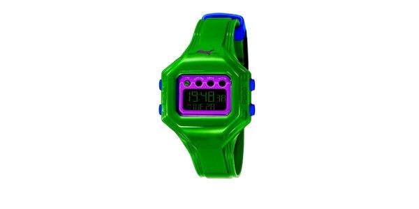 Dámske zelené digitálne hodinky Puma