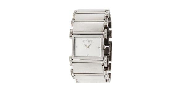 Dámske náramkové hodinky Jet Set s kamienkami