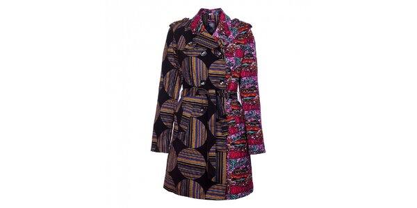 Dámsky zimný pestrofarebný kabát Custo Barcelona
