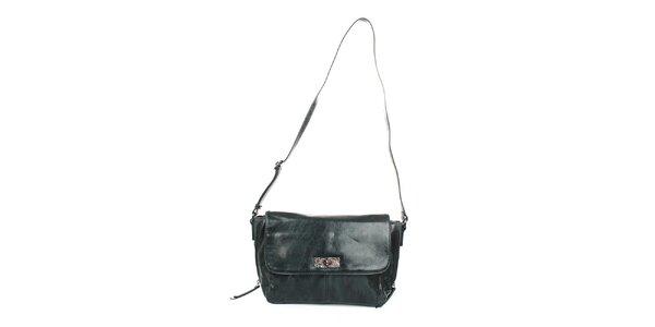 Dámska zelená spoločenská kabelka Sisley