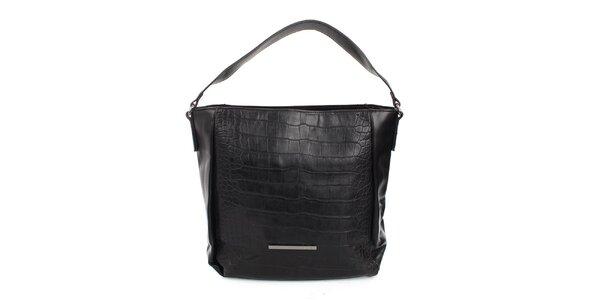Dámska čierna kabelka s jedným uchom Sisley