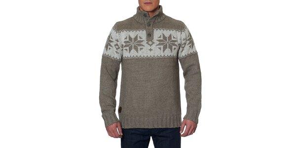 Pánsky sveter so stojáčikom a gombíkmi Paul Stragas