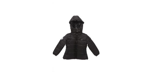 Detská čierna zimná prešívaná bunda Buby