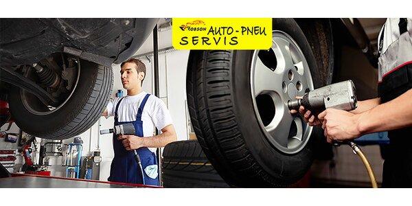 Prezutie pneumatík s vyvážením v cene
