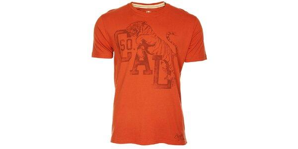Červené pánske tričko Timeout s potlačou