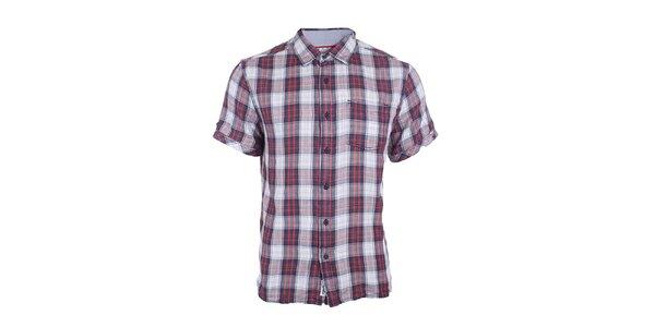 Pánska kockovaná košeľa s krátkym rukávom Timeout