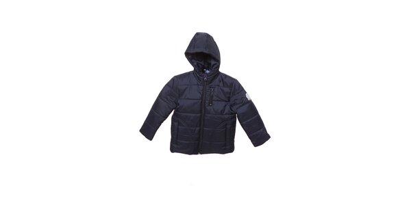 Detská tmavo modrá prešívaná zimná bunda Buby