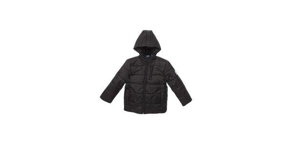 Detská čierna prešívaná zimná bunda Buby