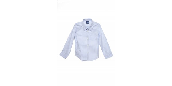 Detská biela košeľa Buby s modrým prúžkom