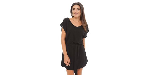 Dámske čierne úpletové šaty Ada Gatti
