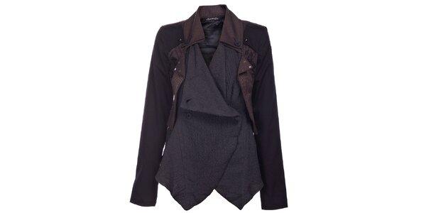 Dámsky čierno-hnedý kabátik Angels Never Die