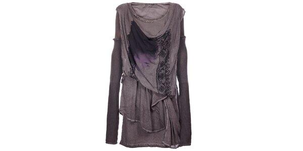 Dámske antracitové šaty Angels Never Die