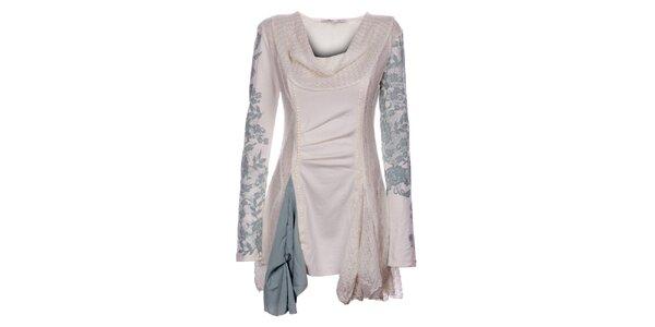Dámske zimné krémové šaty Angels Never Die