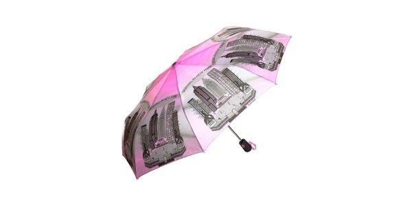 Dámsky ružovo-šedý dáždnik Rosalita McGee