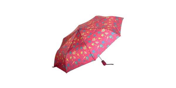 Dámsky červený dáždnik s potlačou Rosalita McGee