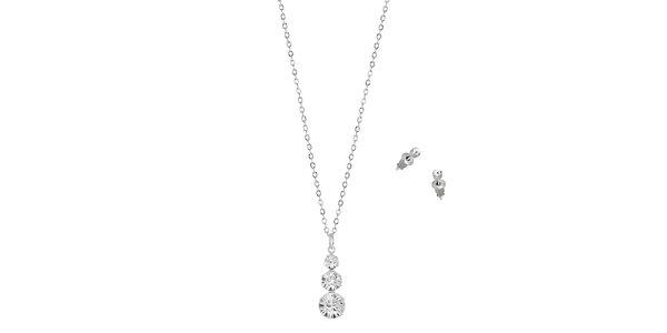 Dámske šperky s kamienkami Swarovski Elements - retiazka a náušnice Art de…