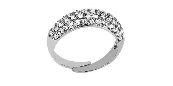 Dámsky prsteň s priehľadnými kryštáľmi Art de France