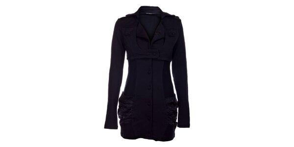 Dámsky čierny bavlnený kabát Angels Never Die