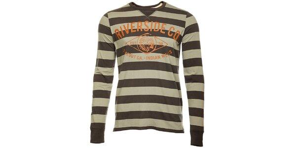 Pruhované pánské tričko Timeout s dlhým rukávom