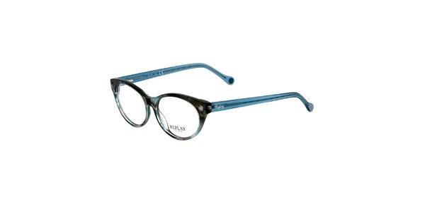 Dámske šedomodré okuliare Replay