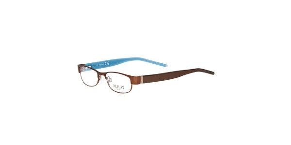 Dámske hnedé rámy na dioptrické okuliare Replay